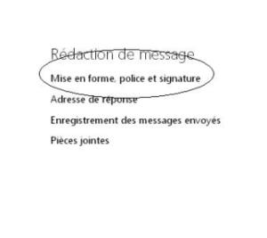Gmail créer un signature personalisé