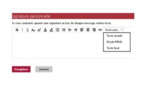 Personnalisé un signature Gmail
