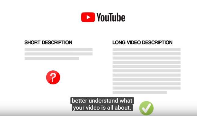 Soignez la longueur de votre description - Source : Youtube SEO - Brian Dean
