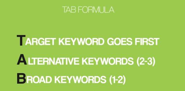 La formule a utiliser pour les tags - Source : Youtube SEO - Brian Dean